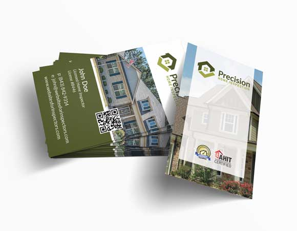 Home inspector business card design #10