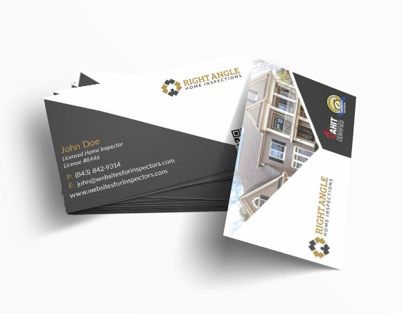Home inspector business card design #12