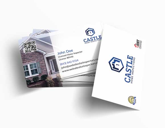 Home inspector business card design #2