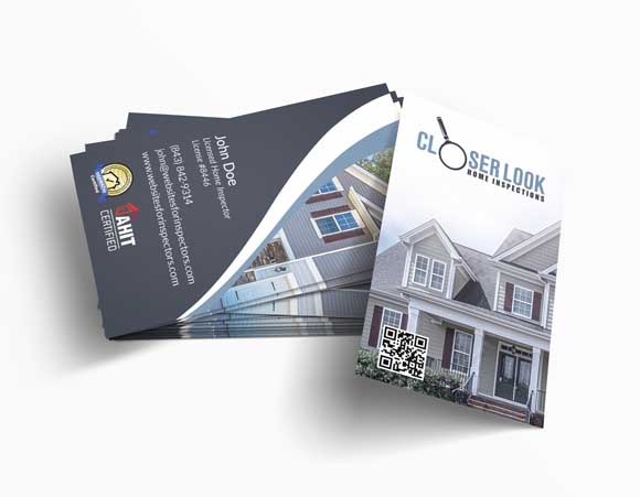 Home inspector business card design #3