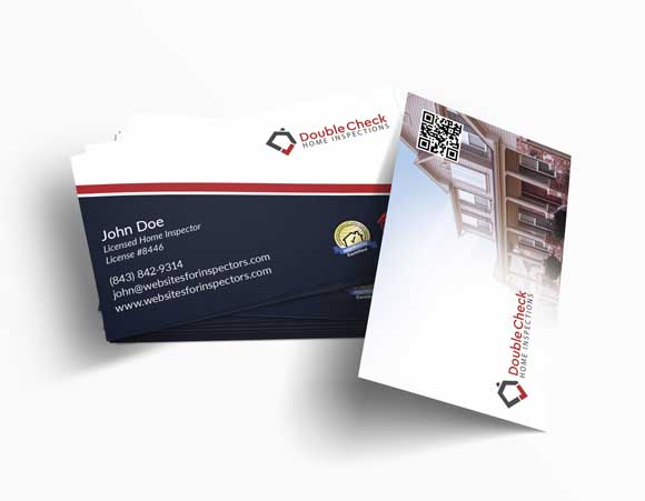 Home inspector business card design #4