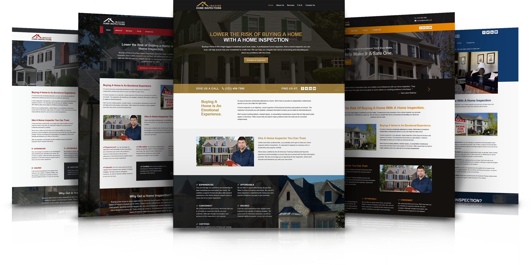 Home Inspection Results professional, modern, personally managed ~ websites for home