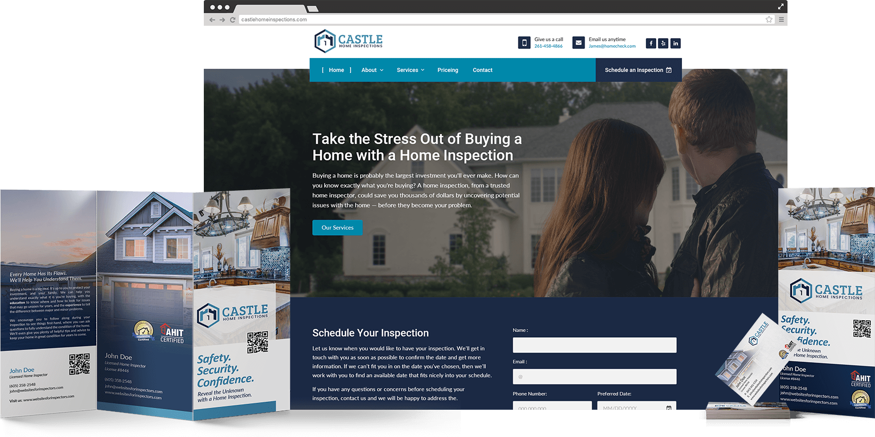 Professional, beautiful, fully-managed websites for home inspectors.