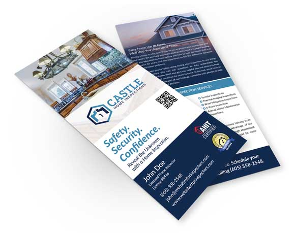 Home inspector rack card design #1