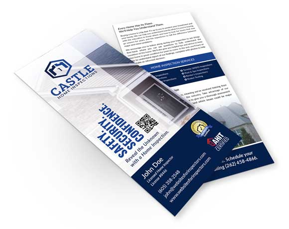Home inspector rack card design #2