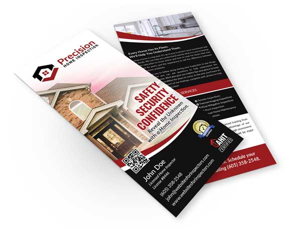 Home inspector rack card design #5