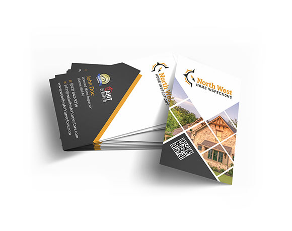 Professional business-cards for home inspectors.