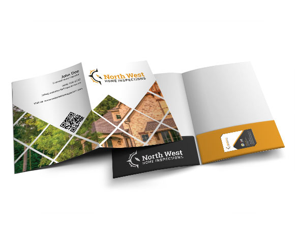 Professional multi-purpose presentation folders for home inspectors.
