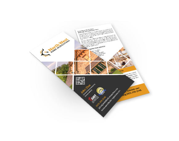Professional rack cards for home inspectors.