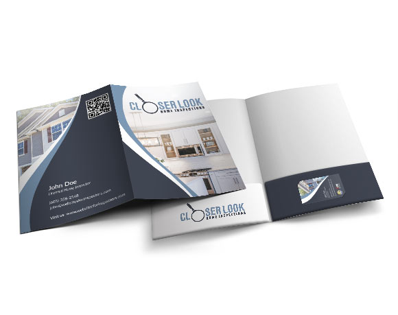 Professional multi-purpose presentation folders for home inspectors.