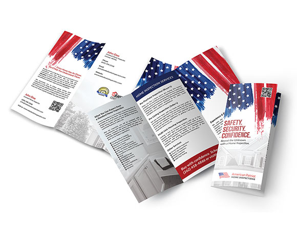 Professional tri-fold brochures for home inspectors.