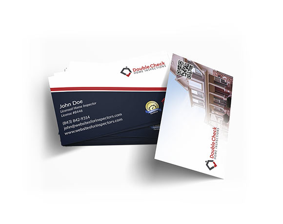 Professional business cards for home inspectors.