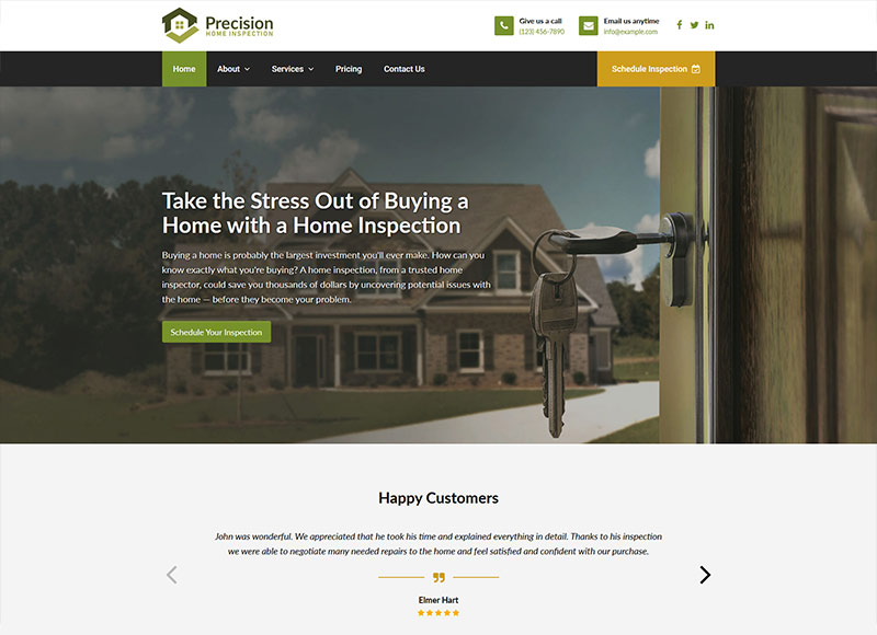 Live Interactive Demos - Websites for Home Inspectors